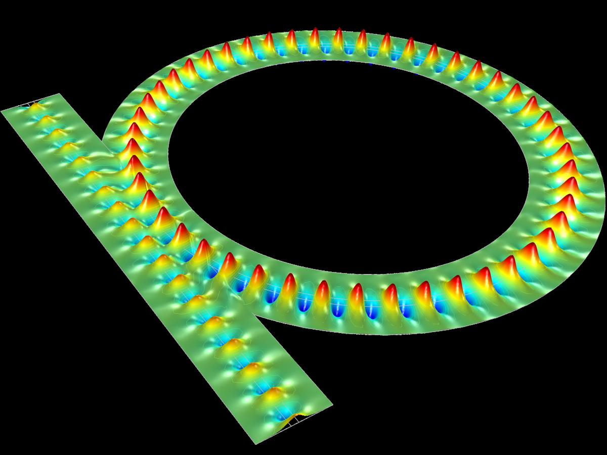 서로 영향을 받는 두 개의 도파관으로 구성된 Directional Coupler
