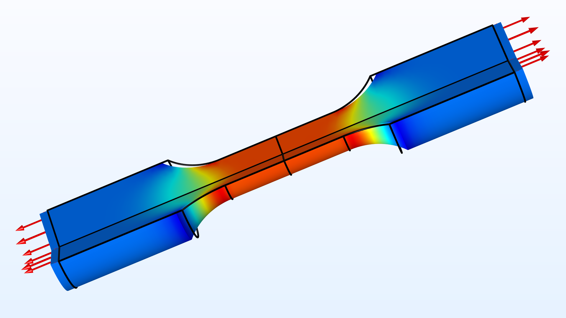 영률과 푸아송 비가 인장테스트를 기반으로 추정됩니다. 시험은 인장력과 축방향 변형을 측정합니다. 모델은 모델 자체에서 생성된 합성데이터를 기반으로 합니다.