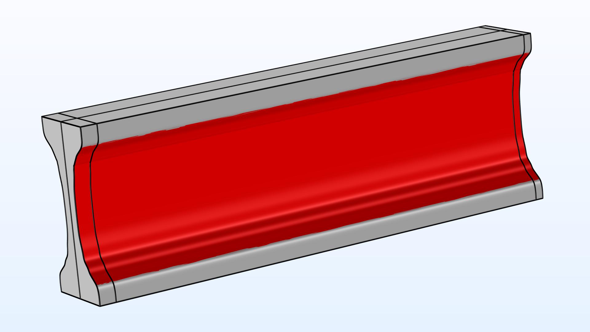이 모델은 돌출된 형상에 대한 3차원 위상과 형상 최적화를 설명합니다. 빔의 강성은 질량에 대한 제약조건에 따라 최대화 되지만, 이 방법은 정상상태 및 주파수 도메인 솔버의 모든 변형과 함께 사용할 수 있습니다.