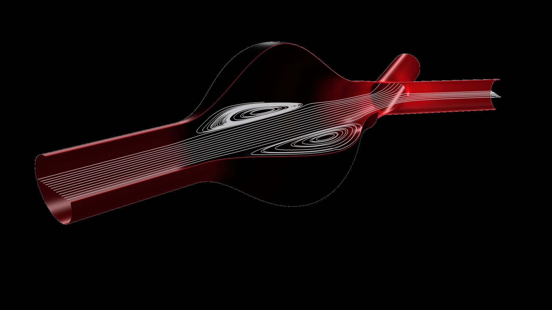 Oldroyd-B 점탄성 유체 모델을 사용하여 모델링 된 동맥에서의 혈액 흐름