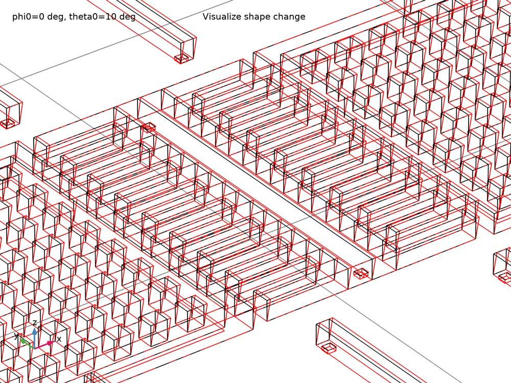 옆쪽 벽의 변화로 발생하는 형상 변화 그림(모델 출처: James Ransley at Veryst Engineering, LLC.)
